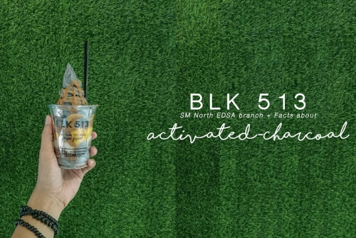 BLK 513 frozen yogurt opens at SM North EDSA + Things you should know about Activated-Charcoal