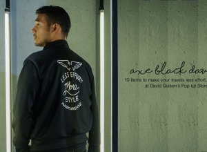 Less Effort More style with #AxeBlackDavid + Items to make your travels stylish at David Guison's Pop up Store