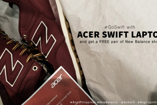 Acer #GoSwift lets you own a new pair of New Balance