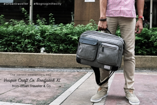 Venque Craft Co. Briefpack XL, The perfect weekenders bag from Urban Traveller & Co.