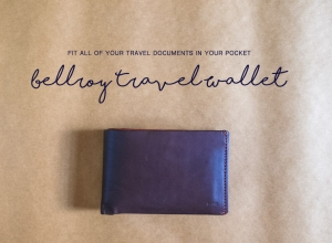 Bellroy Travel Wallet – Fit all of your travel documents in your pocket