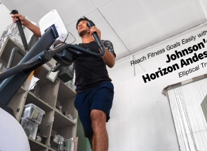 Reach Fitness Goals Easily with Johnson's Horizon Andes 5 Elliptical Trainer