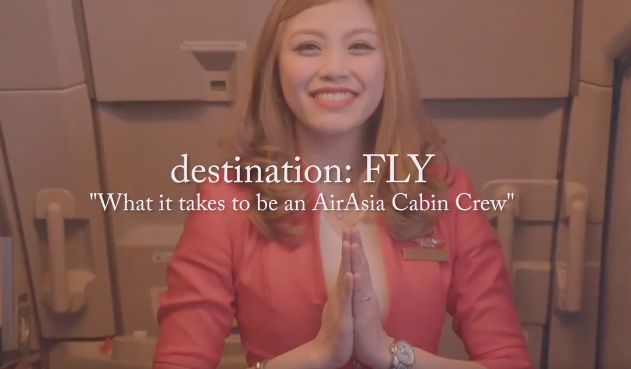 Destination Fly air asia cabin crew