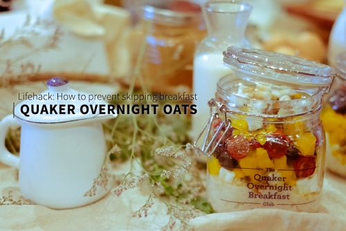 Lifehack: How to prevent skipping breakfast with Quaker Overnight Oats #QuakerOvernightBreakfastClub