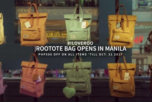 Rootote Bag opens at SM the Block + Php500 off on all items until October 31st! #IloveRoo