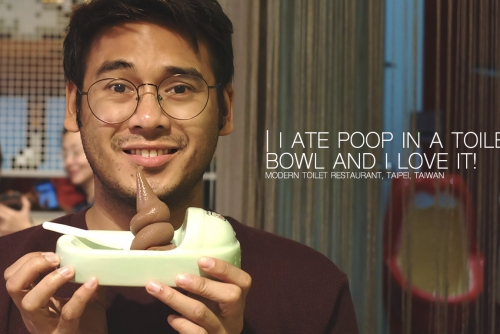 I ate Poop in a Toilet Bowl and I love it! (Modern Toilet Restaurant)