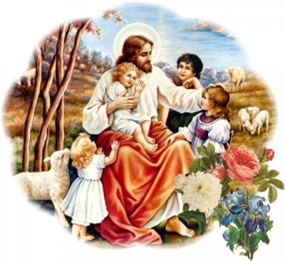 Jesus-sheep-children