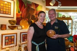 Carl Sherry with Susan of Literacy Hawaii