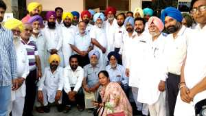 District level meeting held by AAP regarding upcoming panchayat elections –