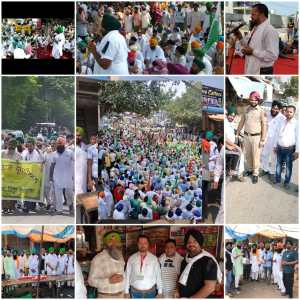 Five hundred shopkeepers of Mahil Kalan came with the support of the farmers