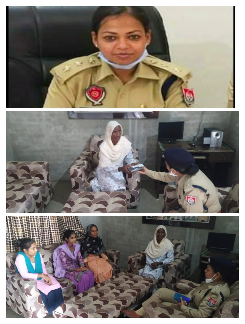 Dr. Pragya Jain IPS reached the house of 6 police personnel of Thuliwal area on 15-10-2020