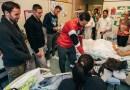 I giocatori della Lazio in visita al Policlinico Gemelli