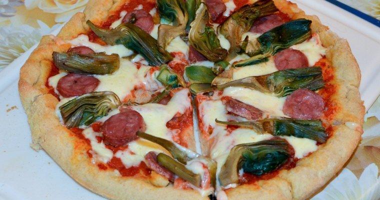 Pizza con farina di grano saraceno a lunga lievitazione