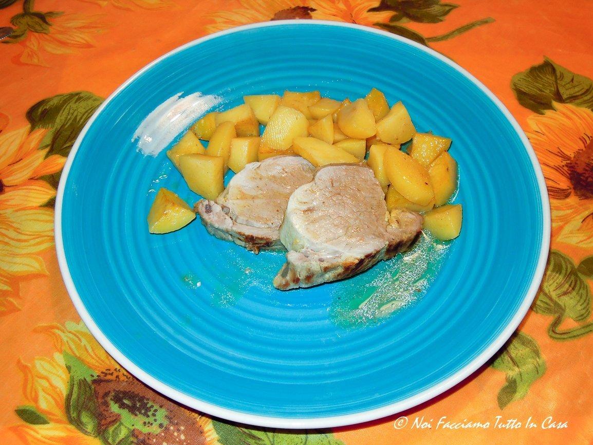 Filetto di maiale alla senape con patate