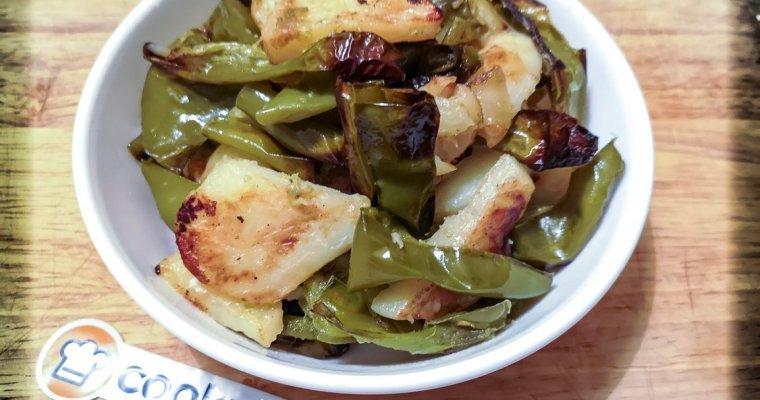 Peperoni Friggitelli e Patate al Forno