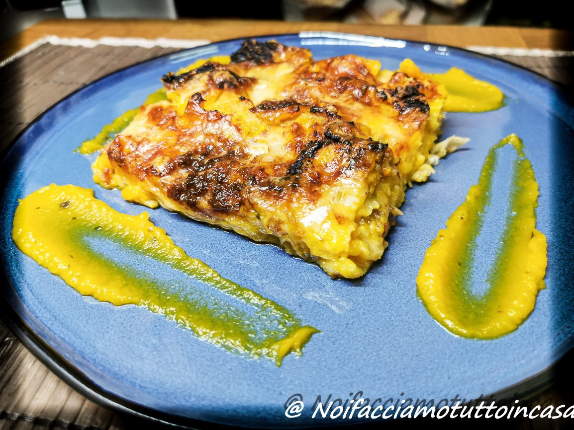 Lasagne alla Zucca con Pane Carasau, Scamorza e 'Nduja