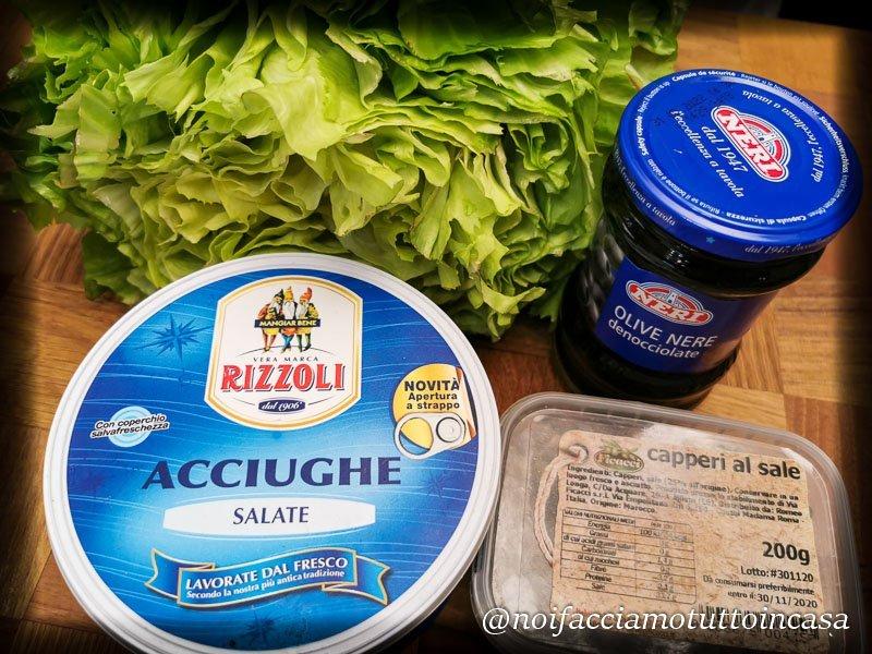 scarola con olive e acciughe
