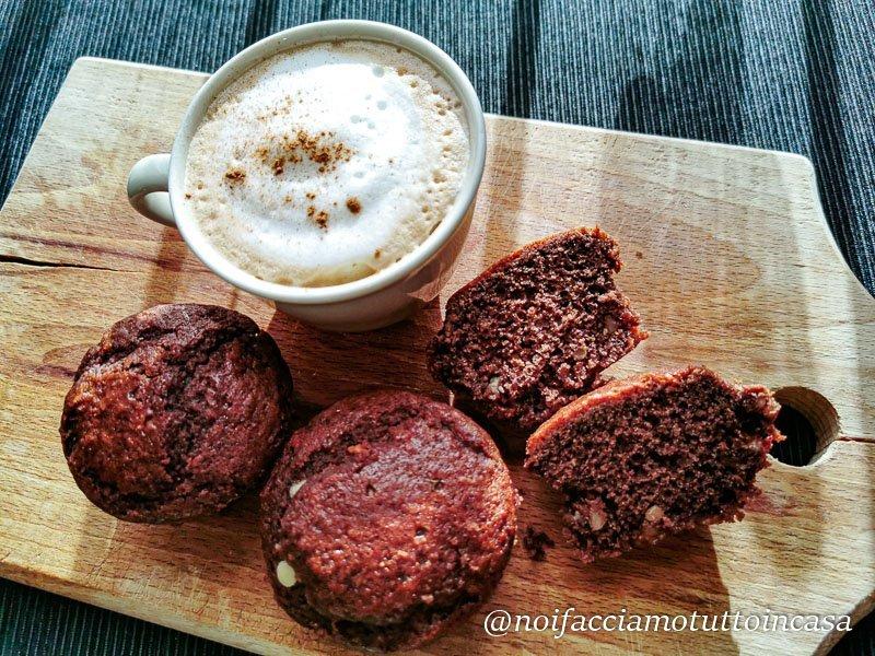 muffin senza gluttine con gocce di cioccoalto
