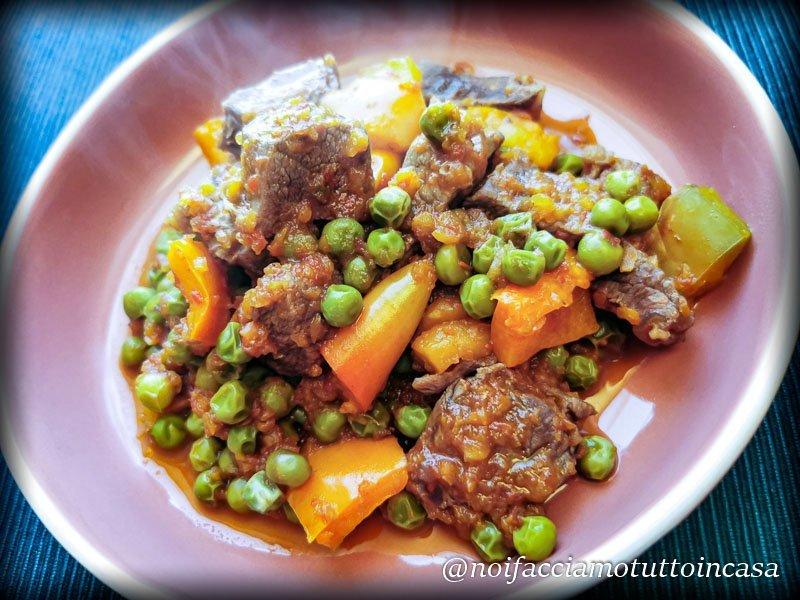Spezzatino di manzo con peperoni