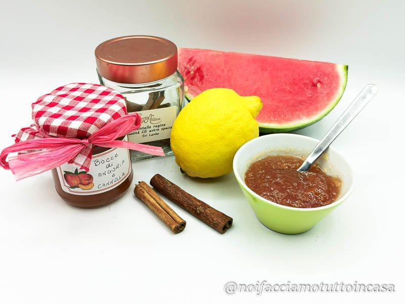 Confettura di bucce d'anguria e cannella super facile