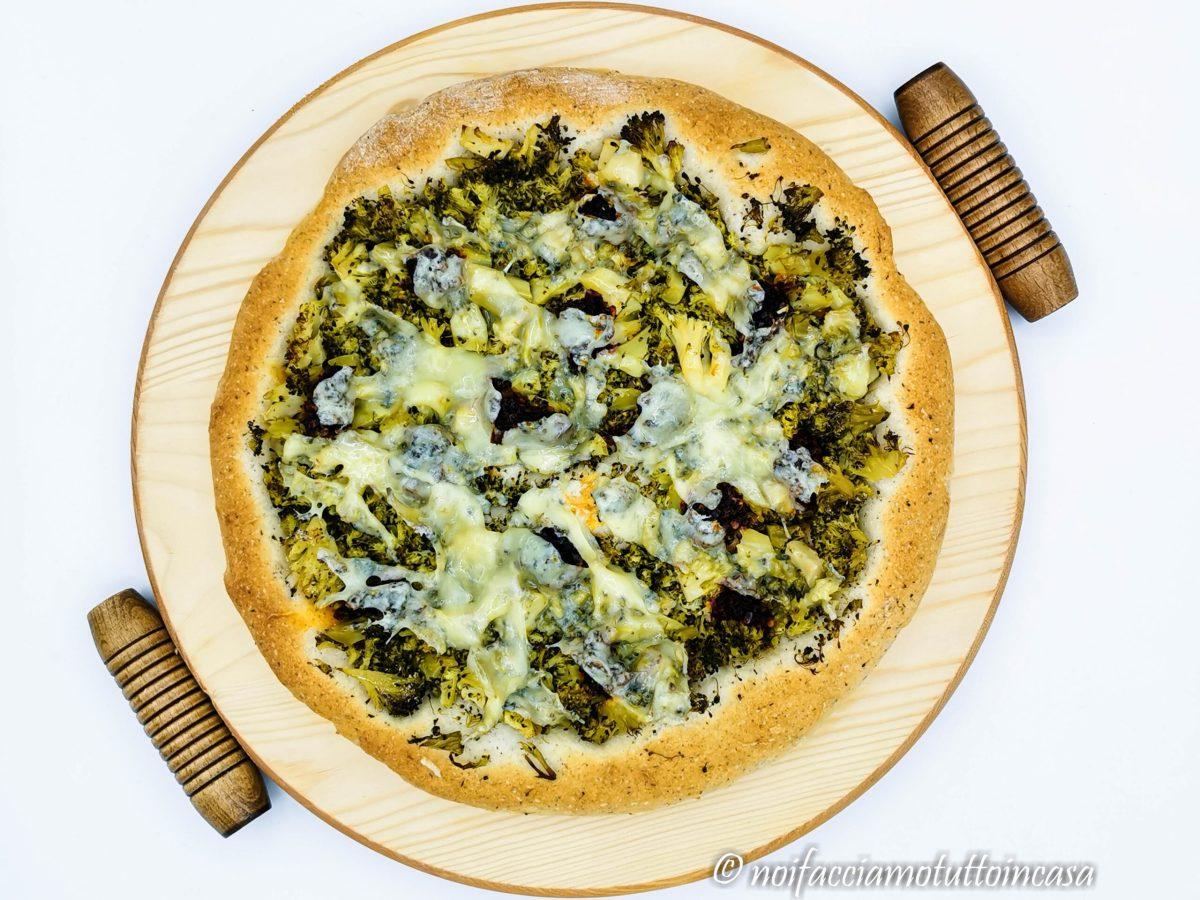 Pizza Senza Glutine Broccoli Caciocavallo e Nduja