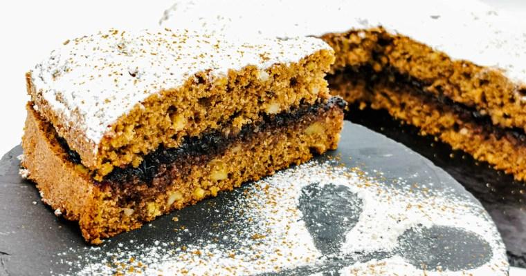 Torta al Grano Saraceno Gluten Free con Marmellata di Mirtilli