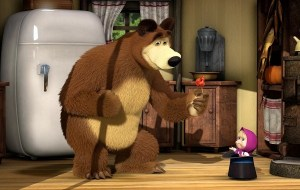Immagine tratta da un episodio di Masha e Orso