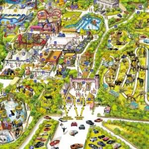 La mappa dello Zoosafari di Fasano