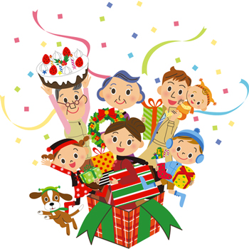 famiglia-natale-dolci-regali-taka1080073-_-dreamstime