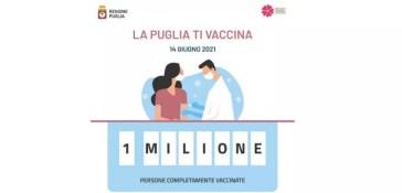 Puglia: un milione di vaccinati Dato diffuso dalla Regione sulla campagna anti coronavirus