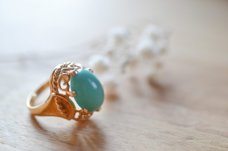 Bague Turquoise, Seconde Main, Or 18 Carats
