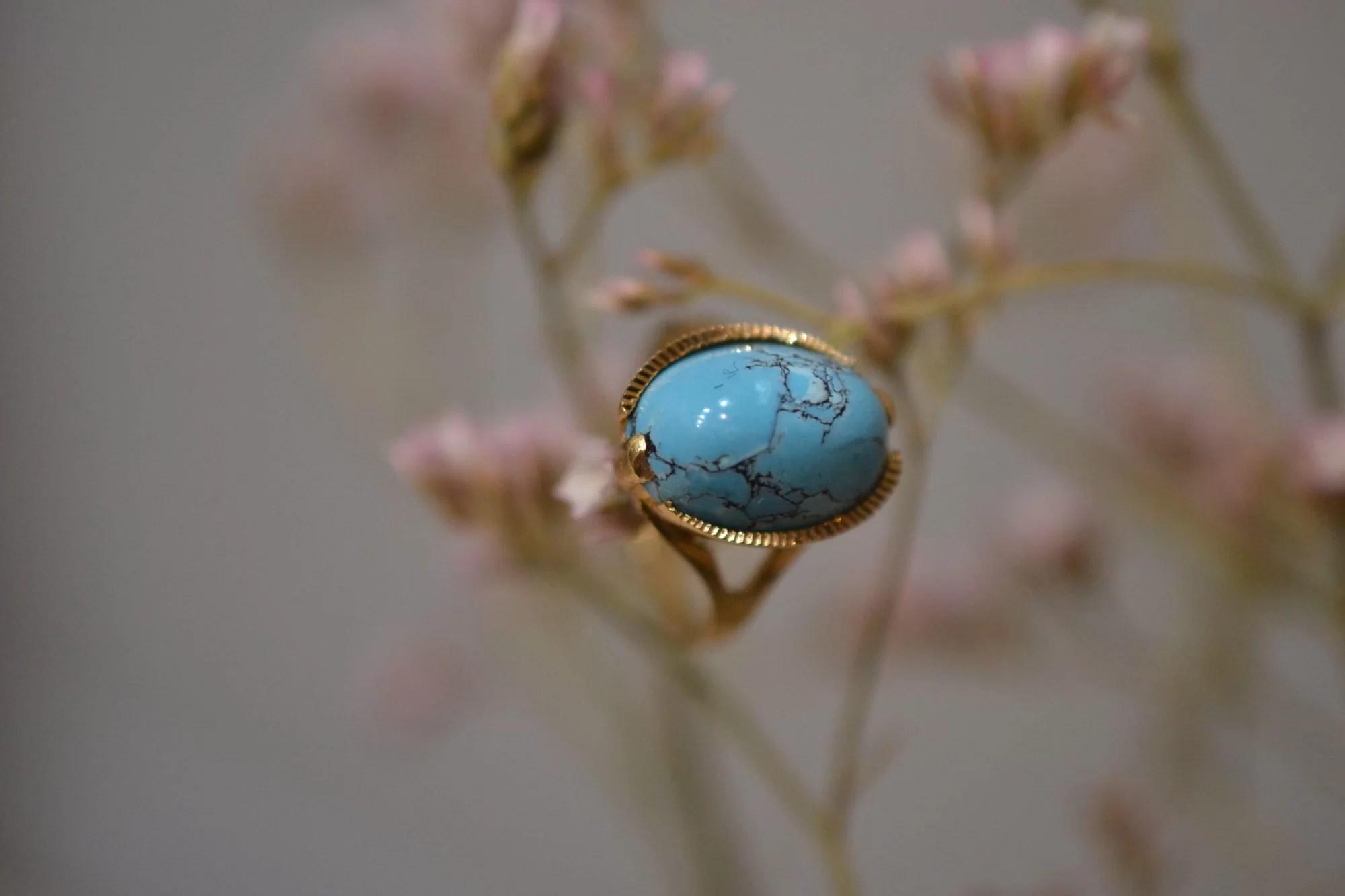 Bague Vintage Pierre Turquoise
