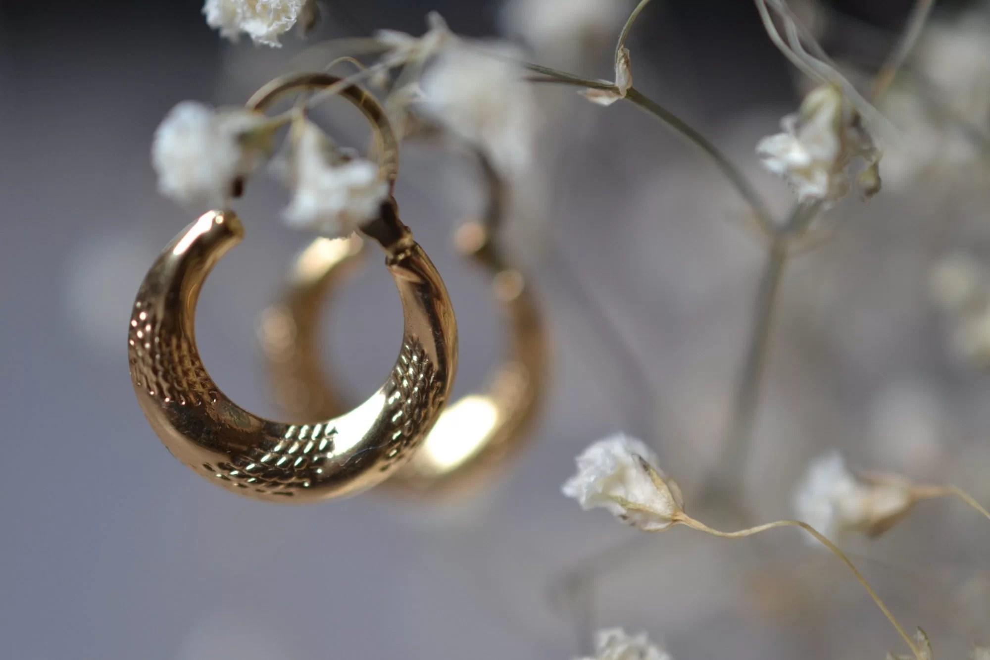 boucles créoles vintage en or