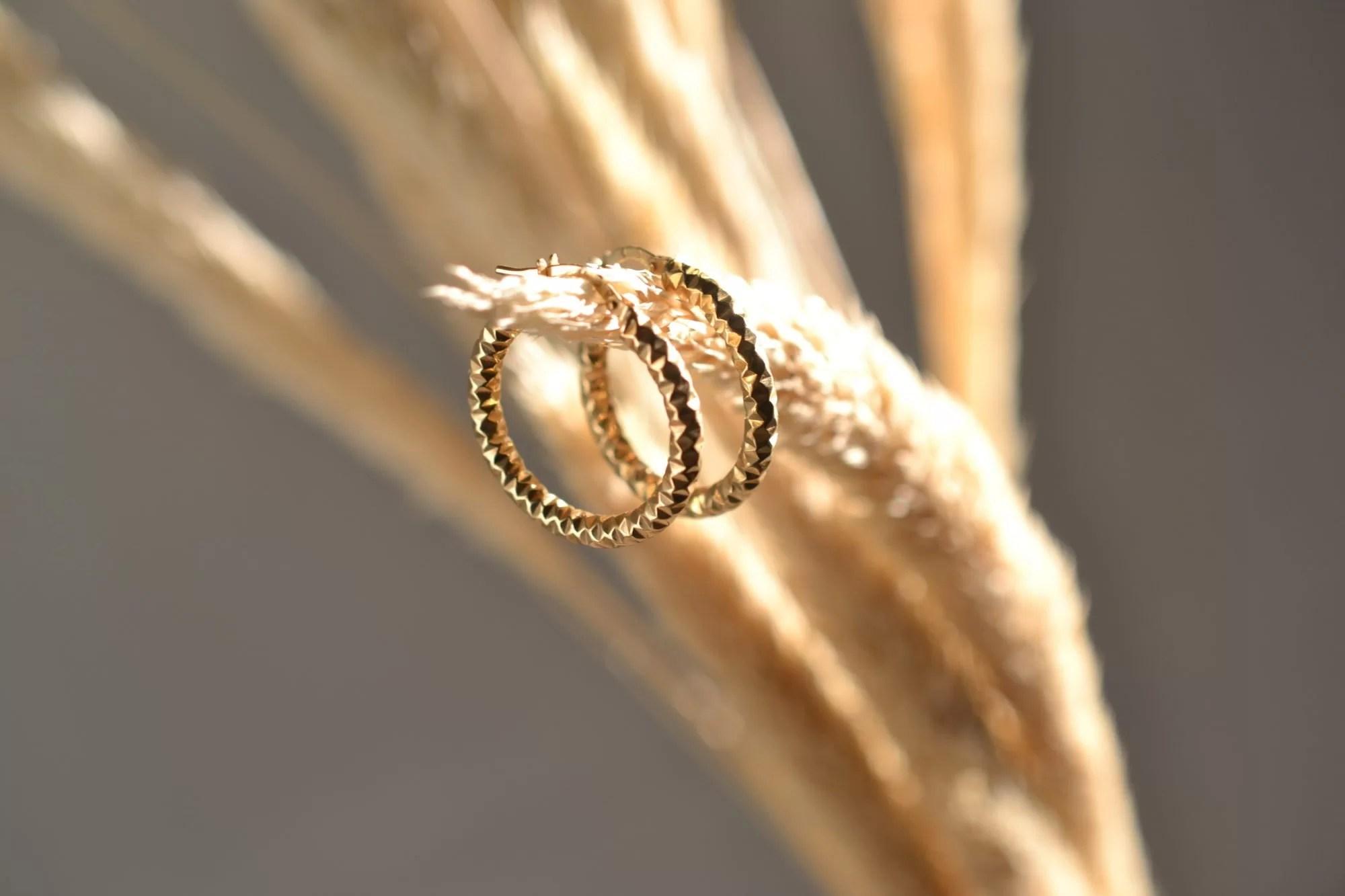 Boucles D'oreilles Créoles Diamantées