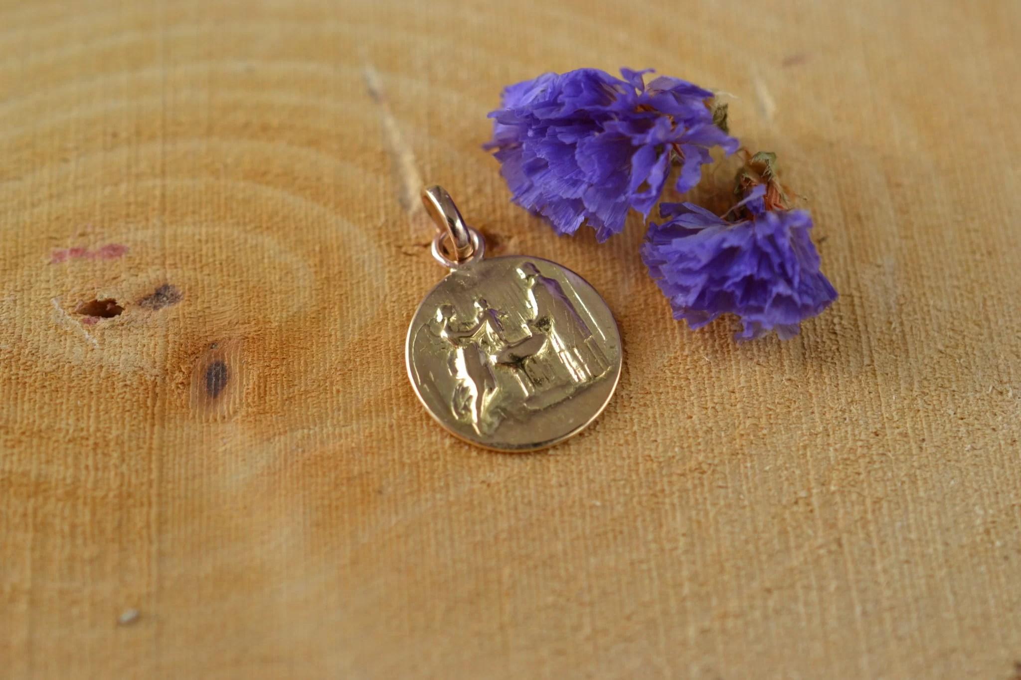 Médaille De Baptême Ronde