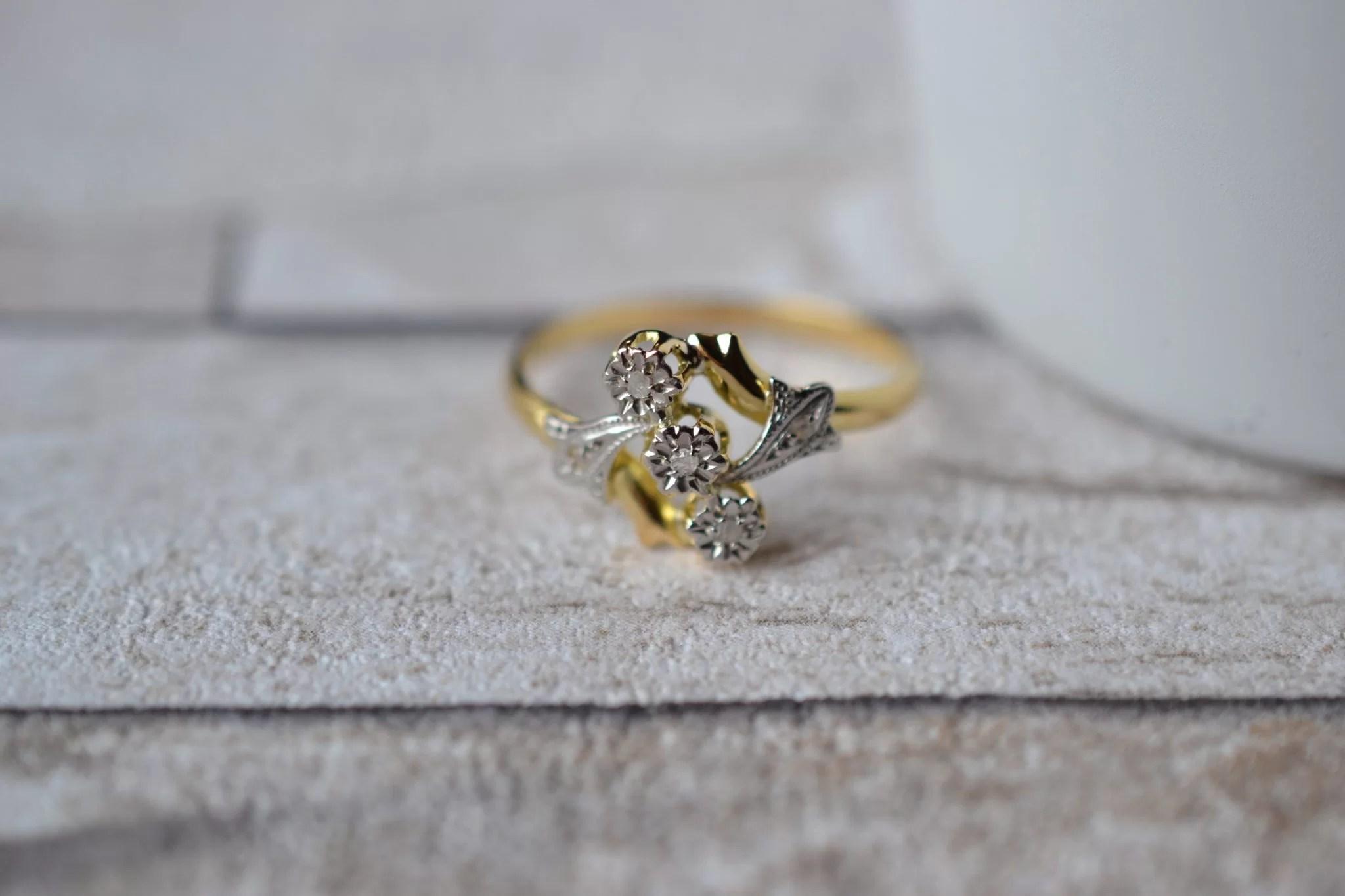 Bague Fleurettes Diamants