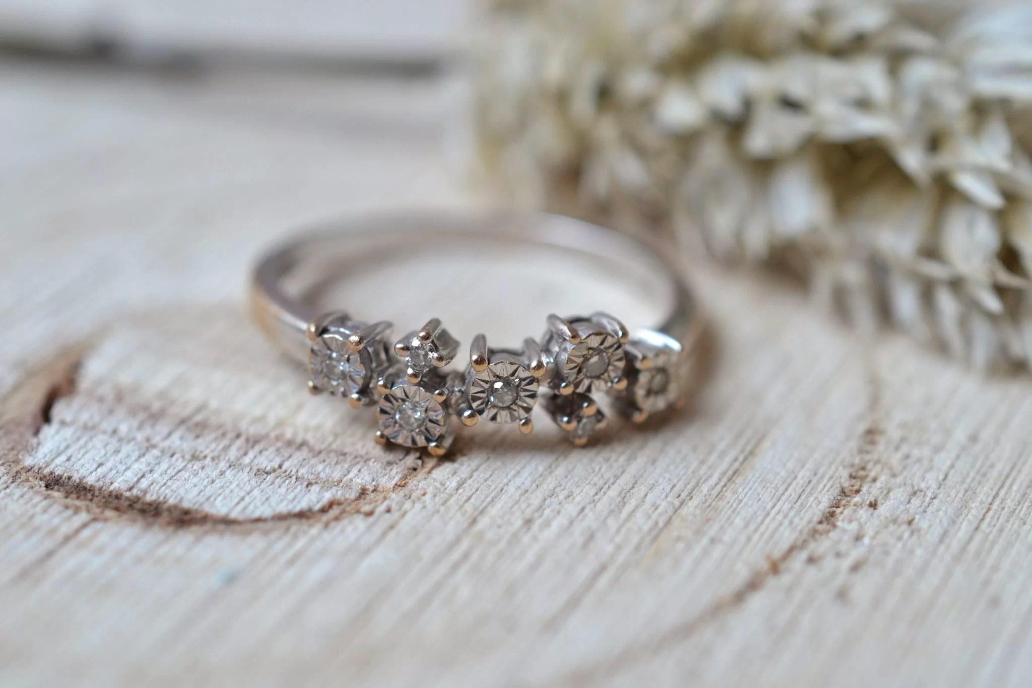 Bague Diamants Brillantés
