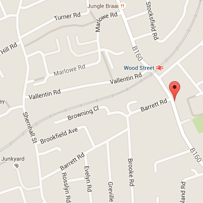 Google map of Wood Street Walthamstow
