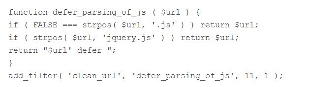 Defer Parsing WordPress code