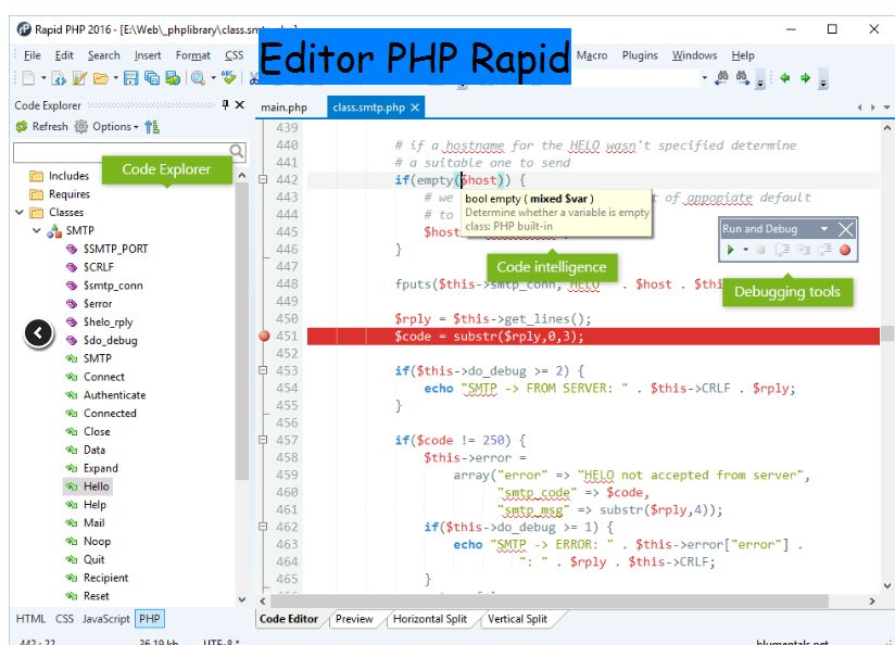 Editor Php Rapid