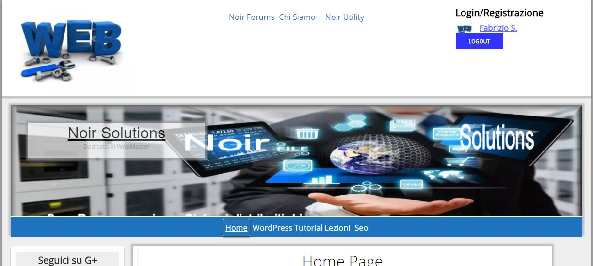Landing Page Noirsolutions