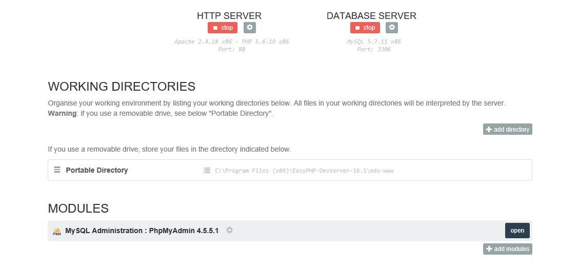Easy PHP su Local Host