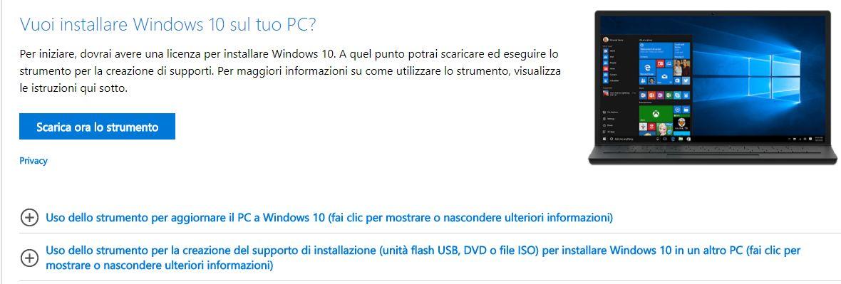 windows 10 iso come installare