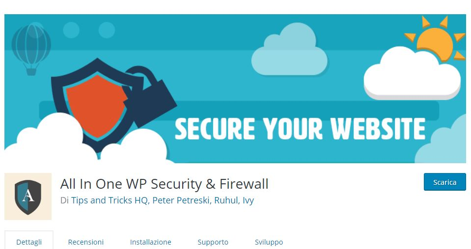 Sicurezza- WordPress All-in-one-firewall