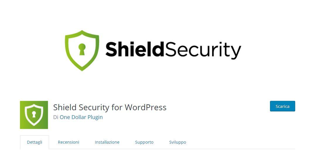 Sicurezza WordPress Shield Security