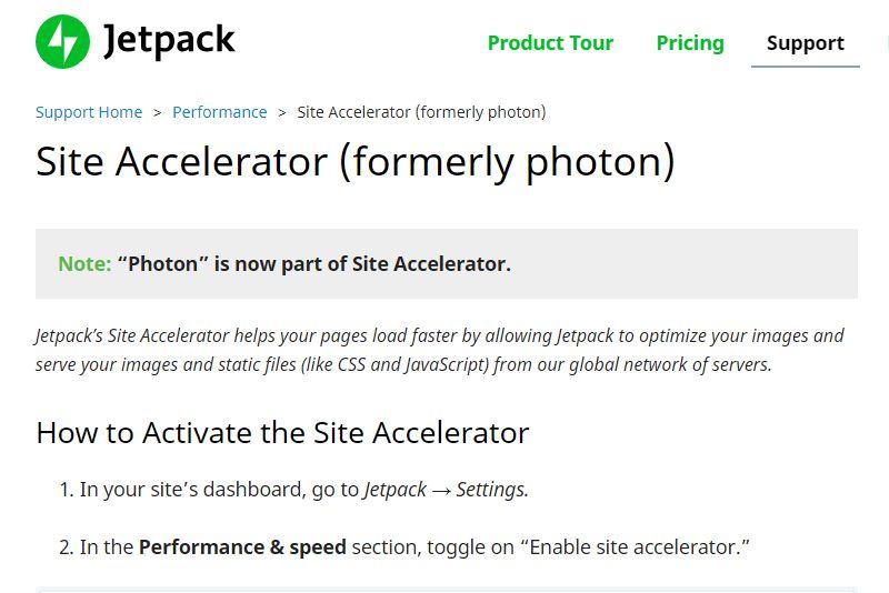 Photon Jetpack  plugins di WordPress per la riduzione e l'ottimizzazioni delle immagini