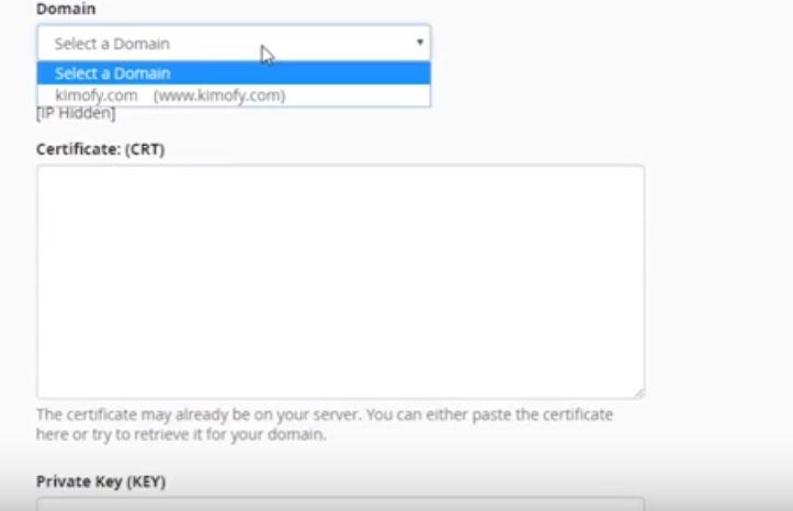 migrazione da http a https certificato come inserirlo