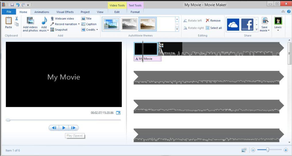 Software per realizzare video Windows  Movie Maker