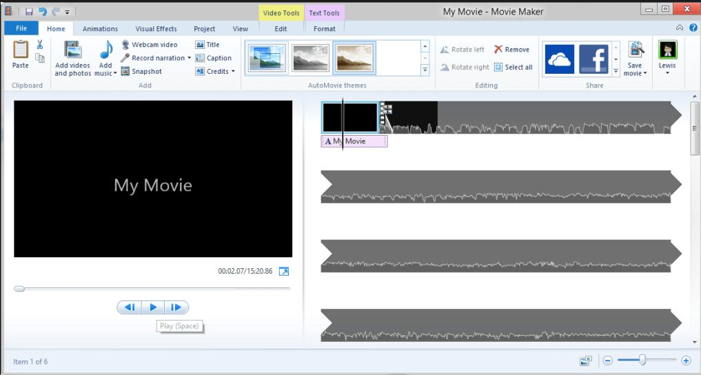 Software per realizzare video Windows  Movie Maker