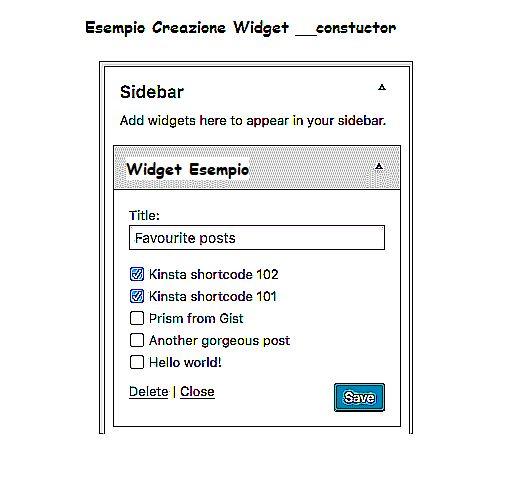 Come realizzare un Widget in WordPress utilizzando la classe __construct dalla versione di PHP 7.0